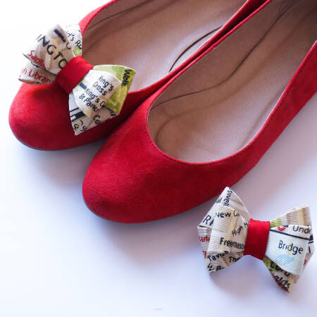 Shoe clips 3d  bows  / London